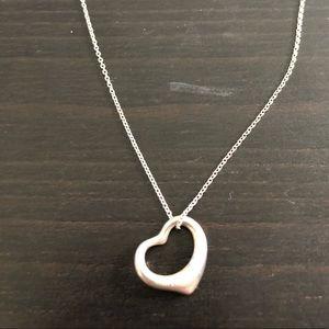 Tiffany & Co. Elsa Peretti Floating Heart Necklace